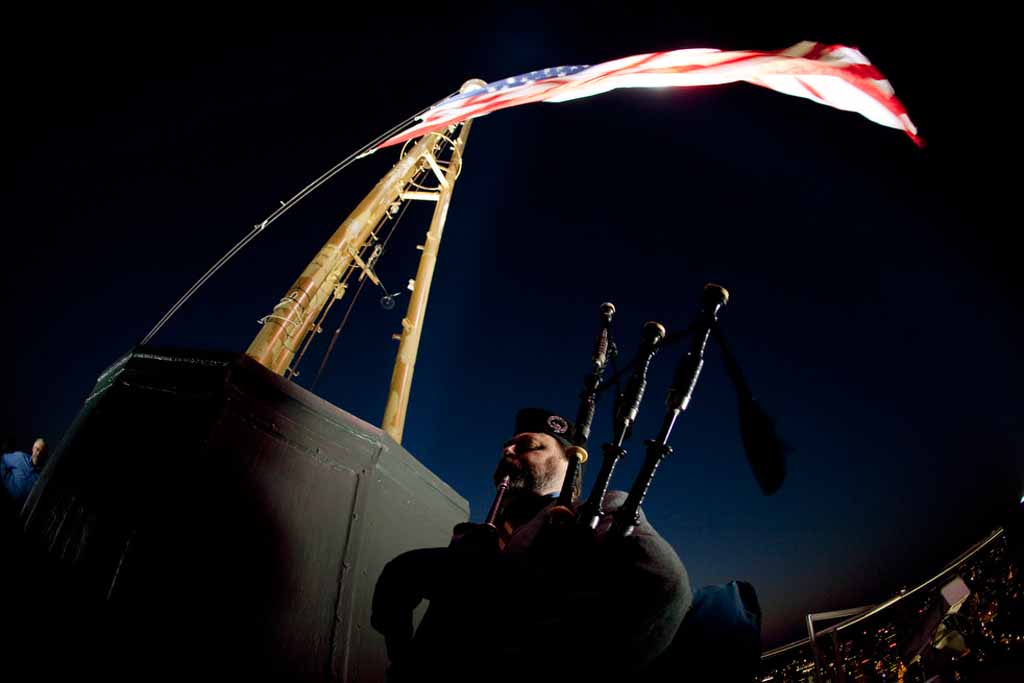 Tyrone on Space Needle, Sept 11 America Remembers