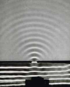 "Bagpipe sound depicted thru Water wave pic, Education Development Center negative, ""Arons"", #RT20, ca 1960."