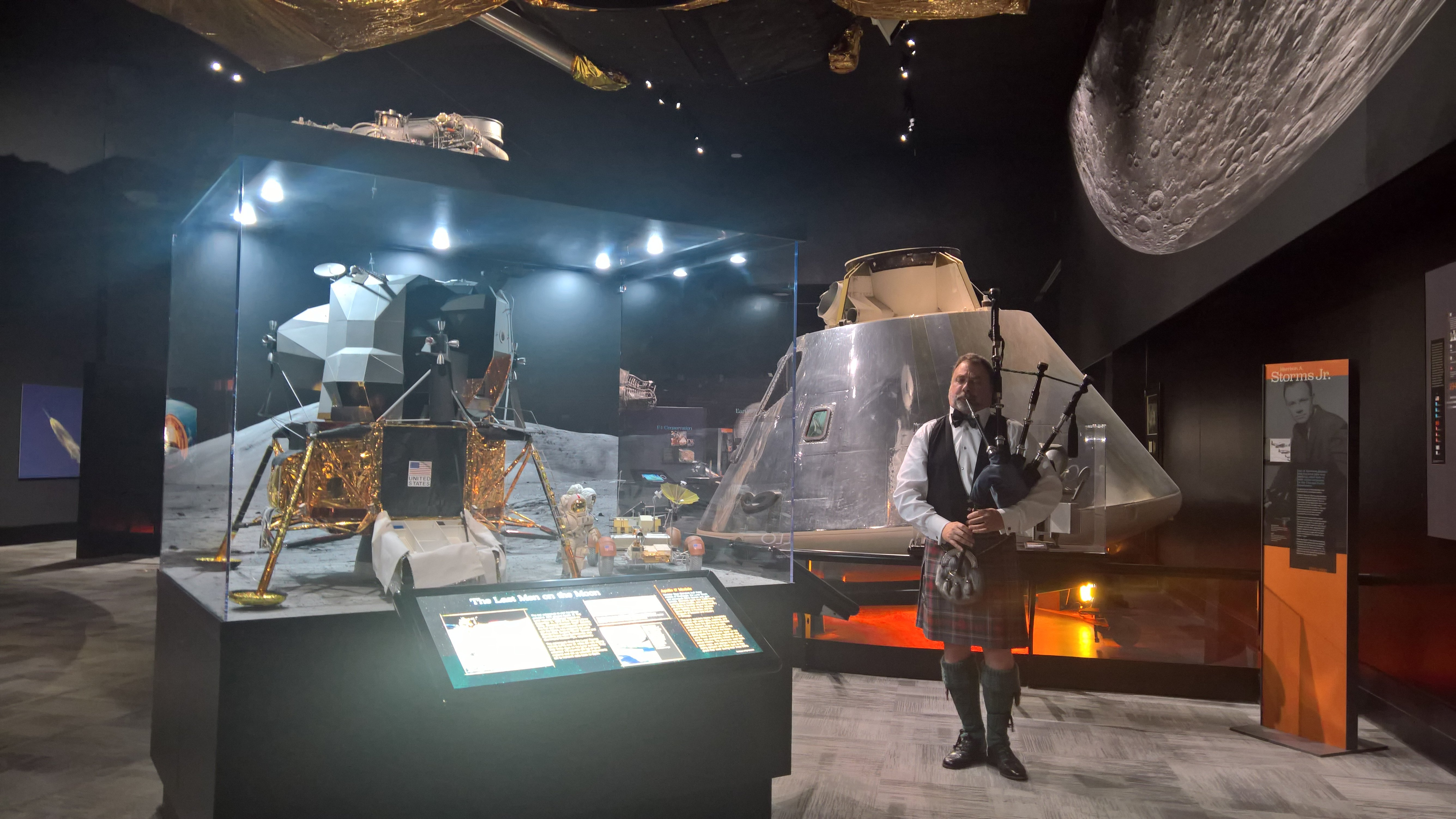 Bagpiping at the Museum of Flight